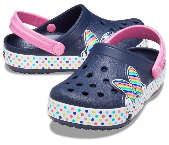 Klompa Crocs crocband teget za djevojcice