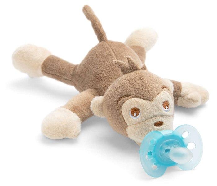 Varalica  sthr plush sgl 0-6m sa plisanom igrackom - majmun