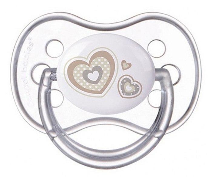 Varalica silikon symmetric  18 mjeseci beige hearts