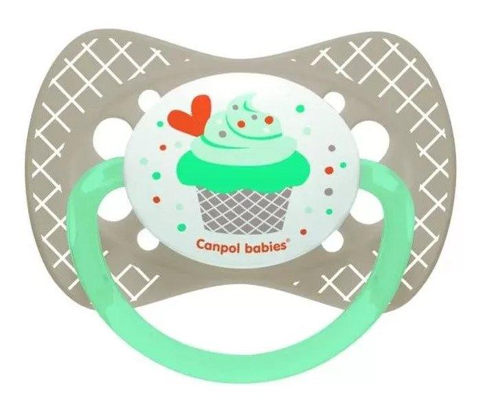 Varalica silikon,simetrična 0-6m, cupcake grey