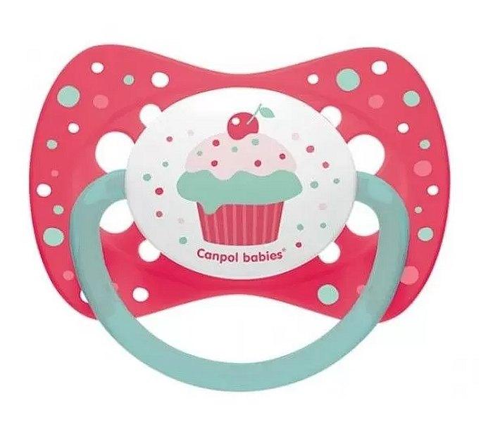 Varalica silikon,simetrična 0-6m, cupcake pink