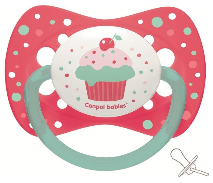 Varalica silikon 18m+ cupcake pink