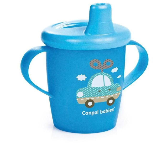 Solja za bebe sa ruckama,250 ml, 9mj+, toys blue