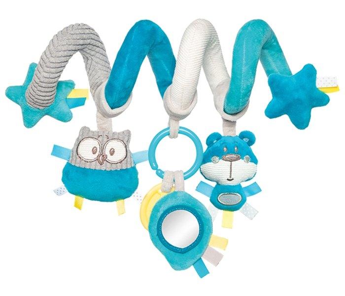 Interaktivna spirala za bebe - tirkiz
