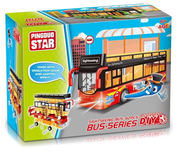 Igracka sastavi-rastavi autobus sa muzikom i svjetlom