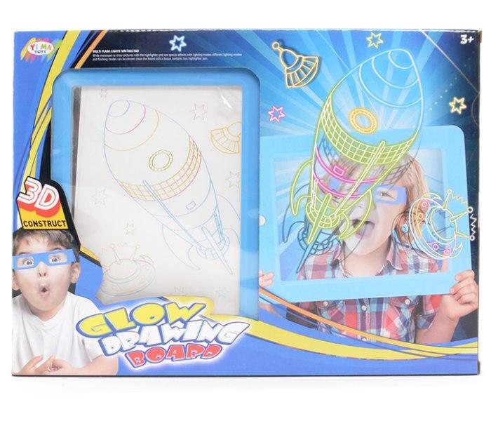 Igracka plava 3D magicna tabla sa led svijetlom