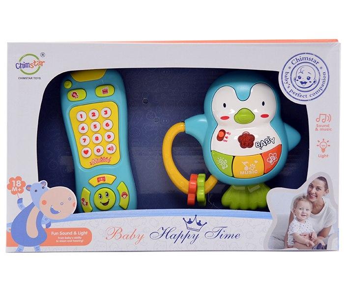 Igracka set zvecka i daljinski za bebe sa svjetlom i zvukom