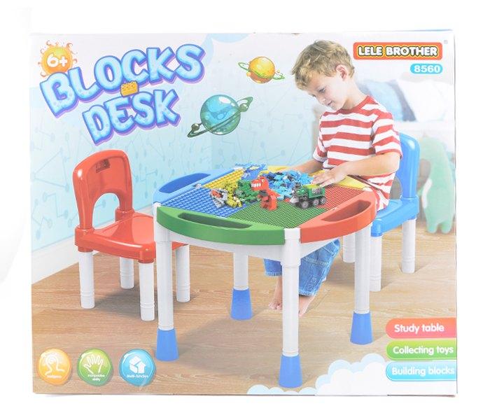Igracka sto sa tablom za slaganje lego kocki