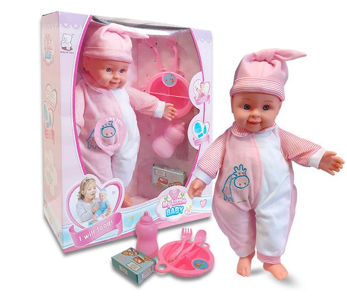 Igracka lutka beba sa priborom za jelo sa zvukom
