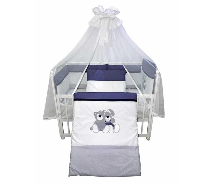 Bebi posteljina M i Z teget