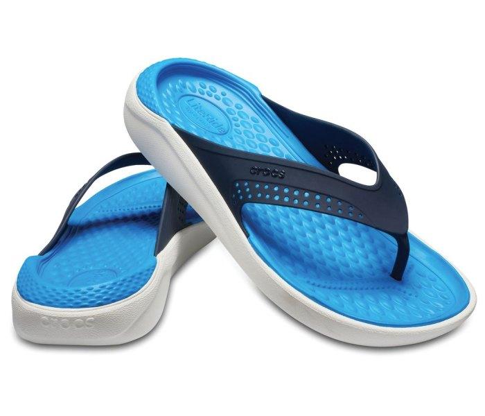 Crocs japanka lite ride plavo-bela za muskarca