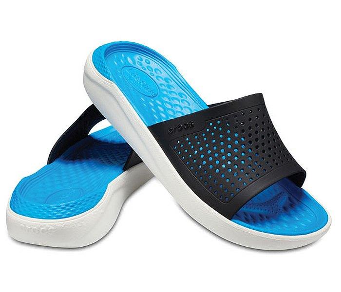 Crocs papuca lite ride plavo-bela za muskarca