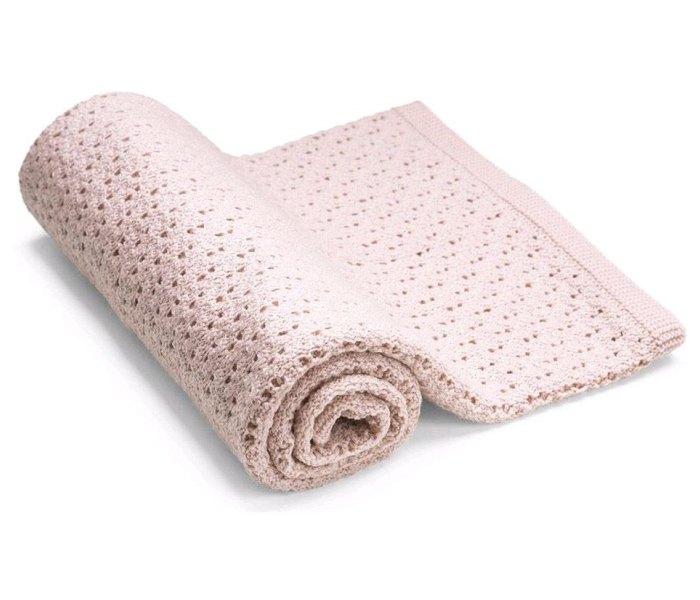Prekrivac za kolica Merino wool pink