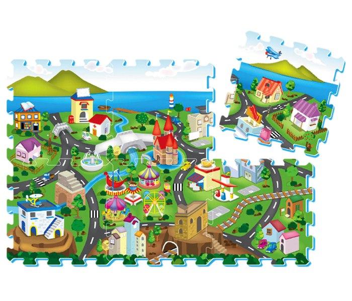 Podne puzzle motiv veliki grad 6 komada 32cmx32cm
