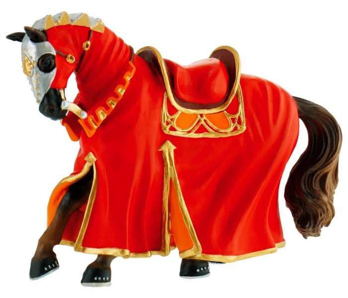 Figura Bullyland tournament horse red