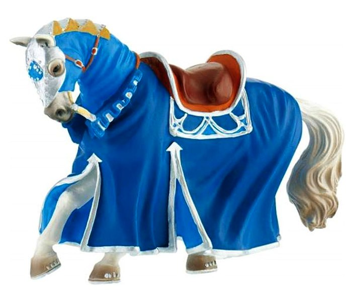 Figura Bullyland tournament horse blue