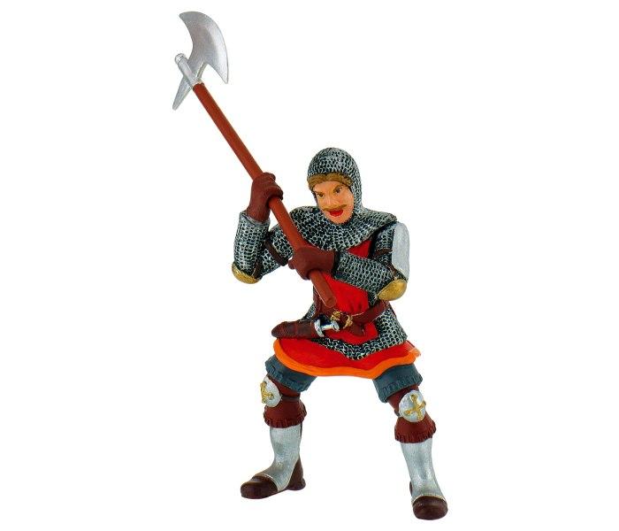 Figura Bullyland knight axe red