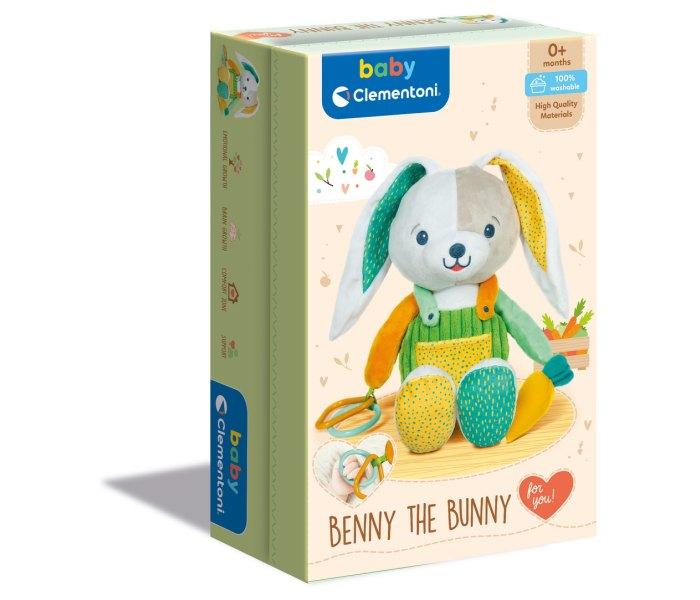Igračka Clementoni baby, mekani zeka Benny