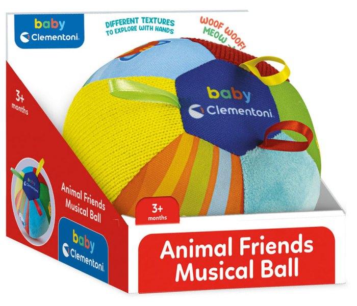 Igračka Clementoni muzička lopta Animal friends