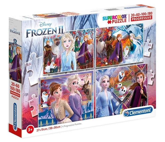 Igracka puzle 20+60+100+180 Frozen 2