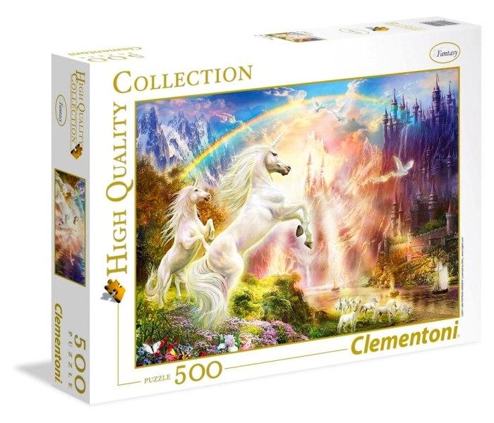 Puzzle 500 hqc sunset unicorns