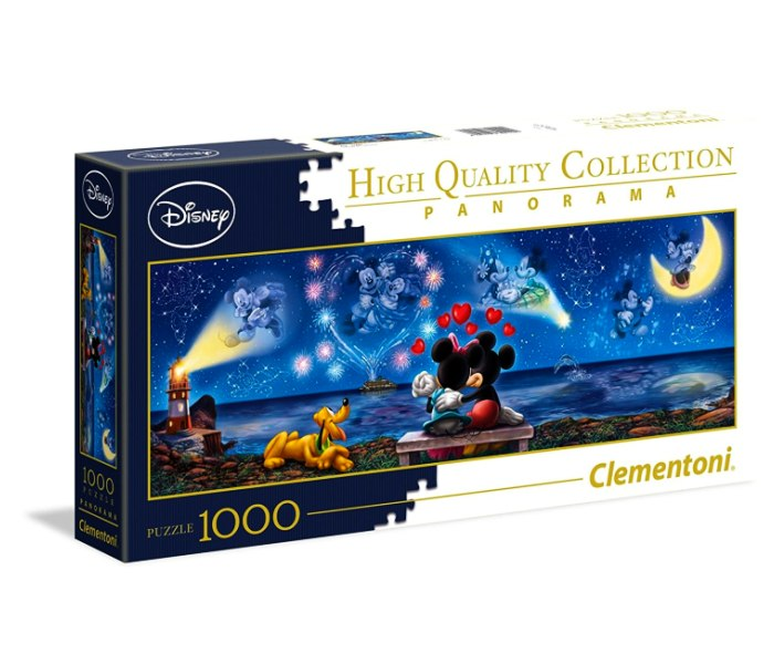 Puzzle 1000 panorama mickey and minnie