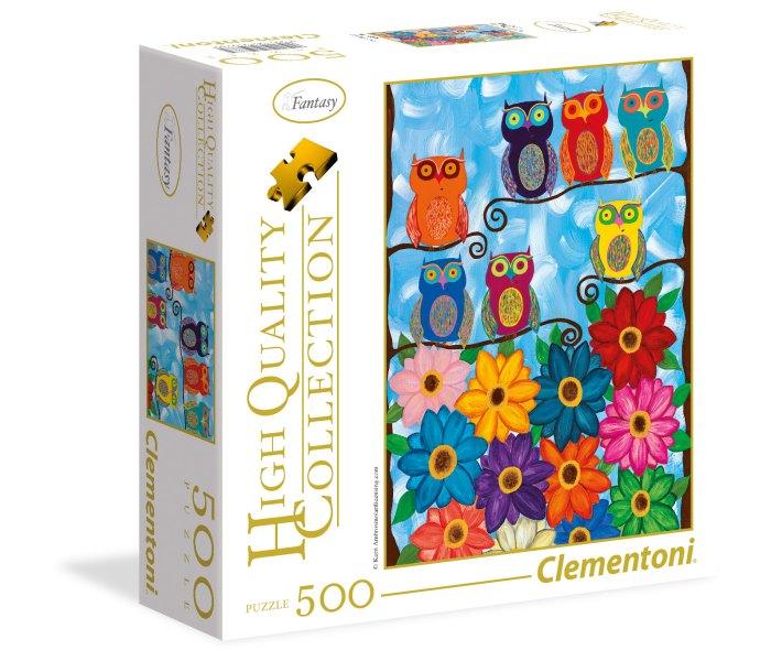 Igračka Clementoni Puzzle 500kom., Little owls