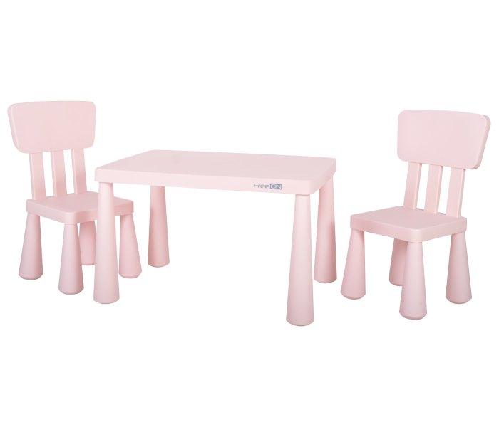 Plasticni sto sa dvije stolice, roze