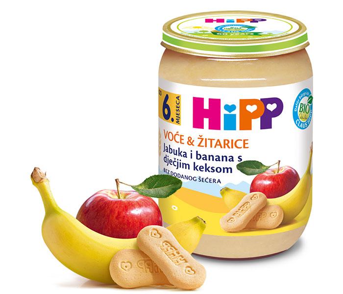 Kašica integralna-jabuka/banana i keks 190g