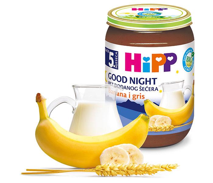 Kašica za laku noć  - griz i banana 190g