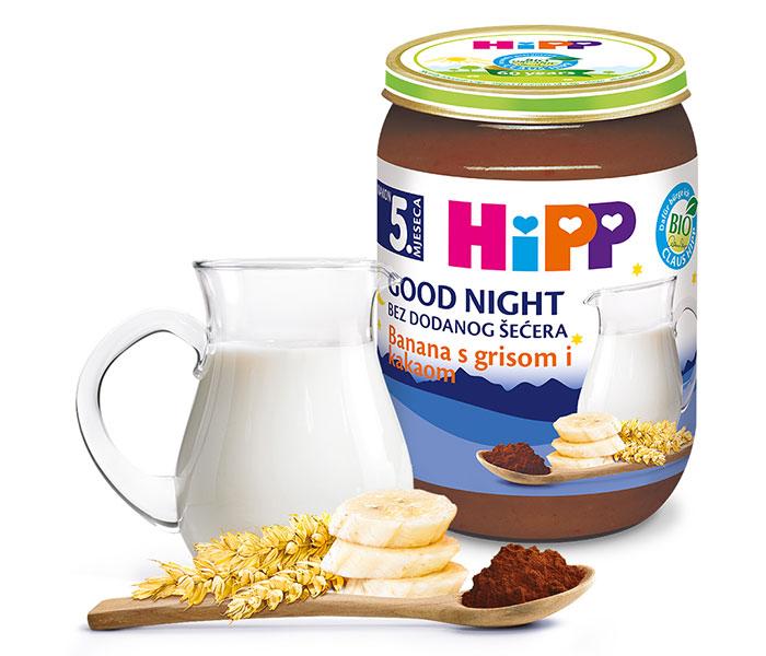 Kašica za laku noć - griz kakao i banana 190g