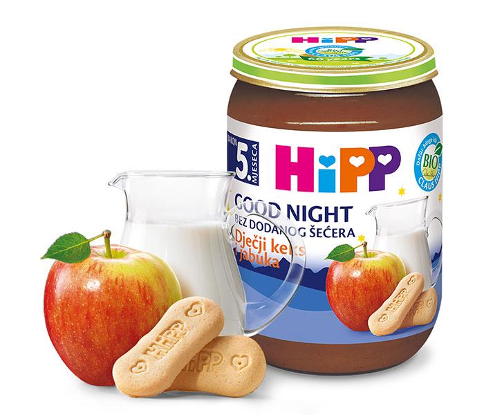 Kašica za laku noć - mlij. sa keksom i jabukom  190g