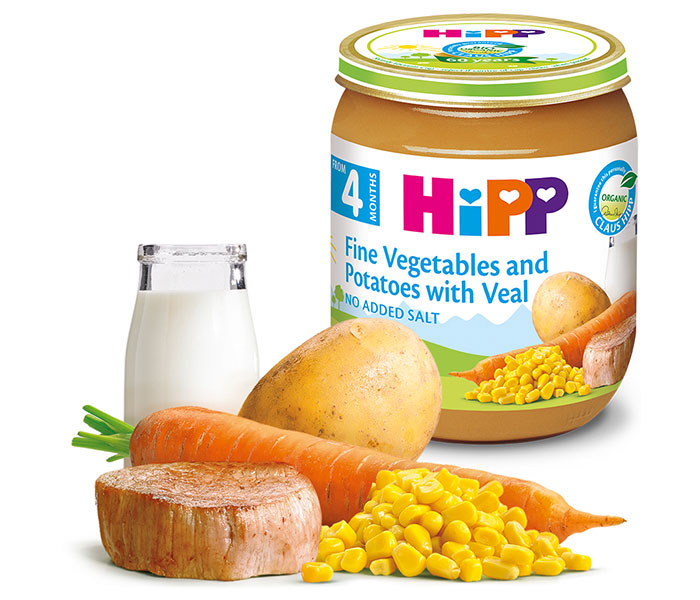 Kašica mesna-fino povrće i krompir sa teletinom125gr