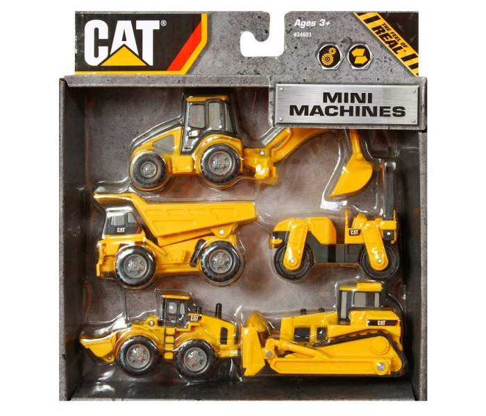 Cat mini gradjevinska masina 7cm, 5kom