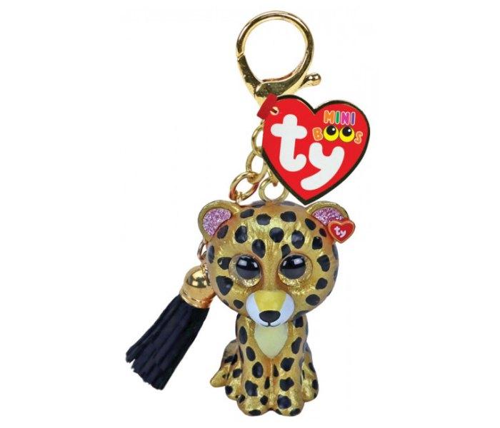 Igračka Ty Pliš leopard,privezak clip