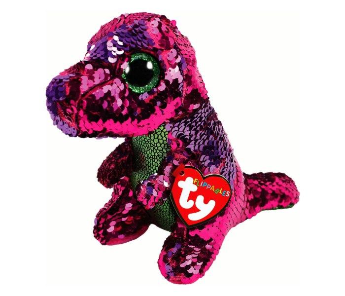 Plis Ty dinosaurus sjajni pink green