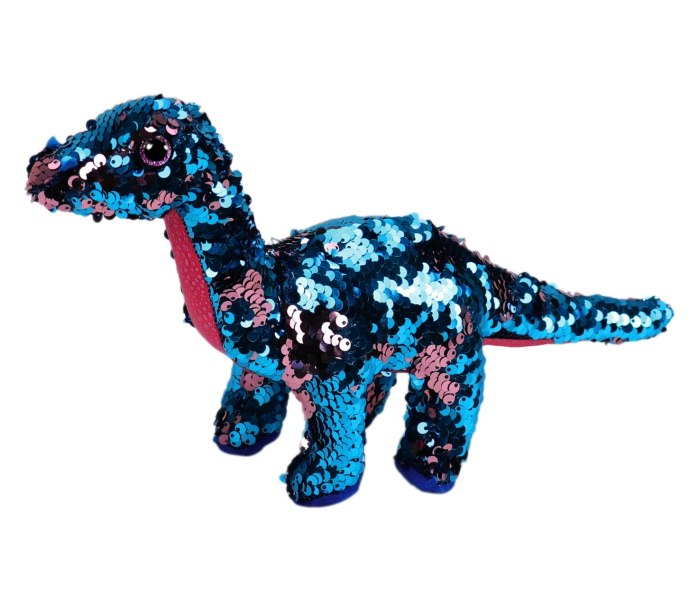 Plis Ty sjajni dinosaurus pink aqua
