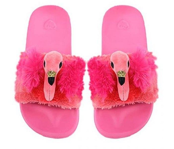 Pliš Ty papuče flamingo vel.M (32-34)