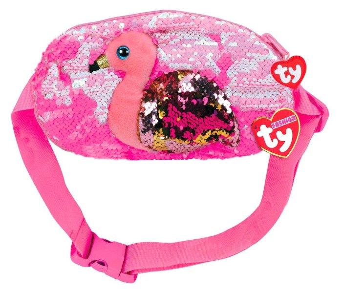 Igracka Ty plis torbica flamingo