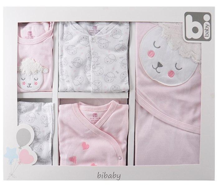 Set za novorodence Bibaby lane 10 djelova 56 rozi