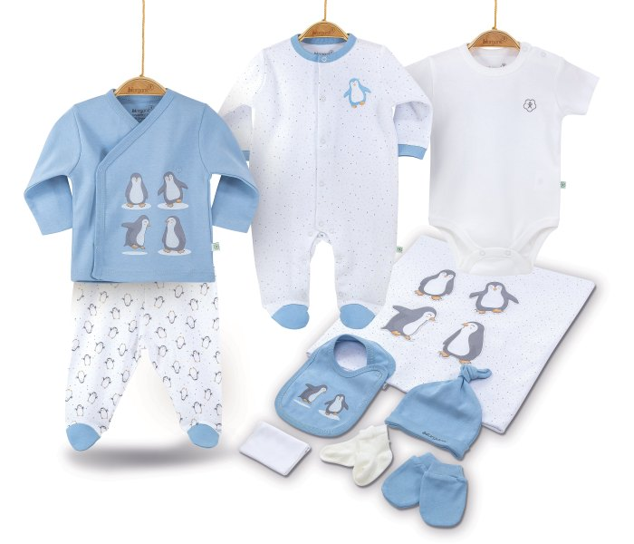 Set za novorodjence BiOrganic best friend 10 djelova plavi 56