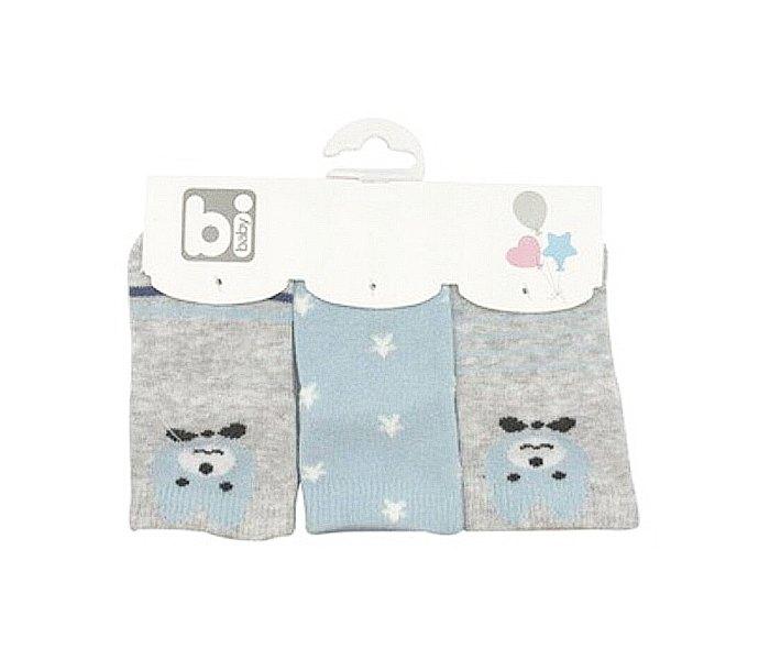 Čarapice za bebe Bibaby 3 kom medo sive