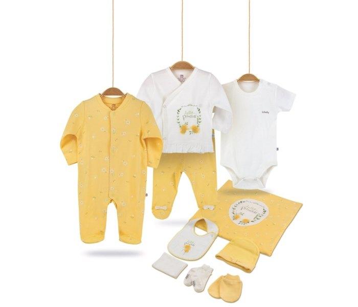 Set za novorodence BiBaby 10 djelova hello dreams 56 žuti