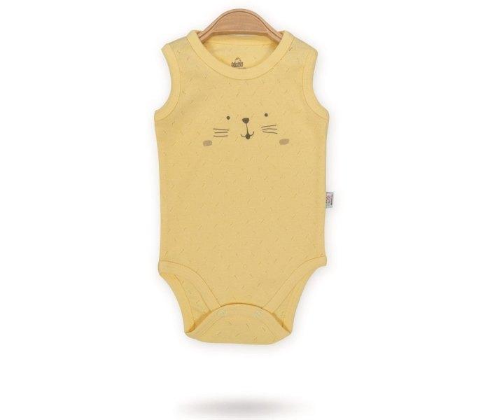 Bodi za bebe Bimini bez rukava mackice 56 žuti