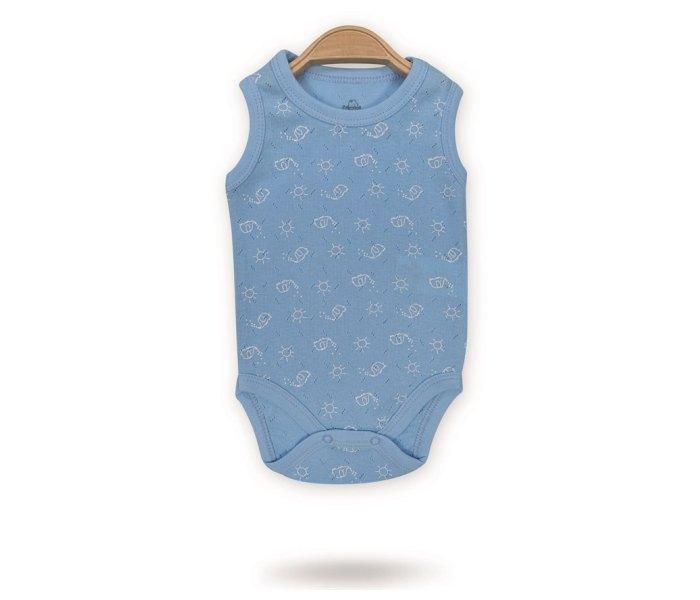 Bodi za bebe Bimini bez rukava cirkus slon 62 plavi