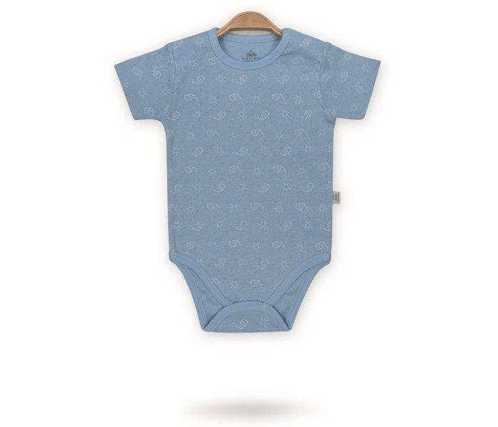 Bodi za bebe Bimini kratak rukav cirkus slon 92 plavi