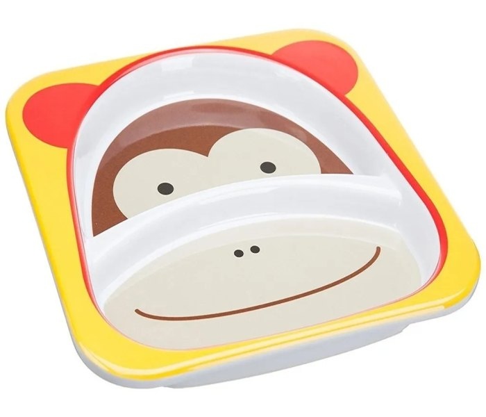 Dvodjelni tanjir Skip Hop Zoo majmun
