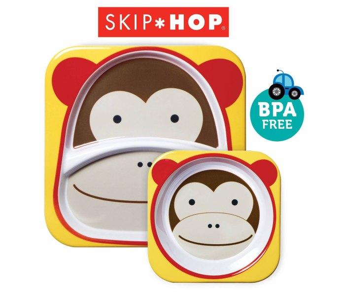 Komplet - dvodjelni tanjir i cinija Skip hop majmun