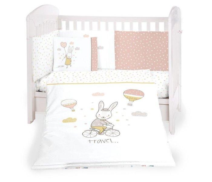 Set posteljina Kikaboo šestodjelna 60/120 rabbits in love