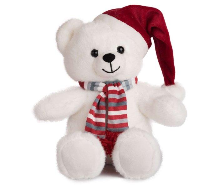 Plišana igračka Amek medvjed sa božicnim šeširom 20 cm